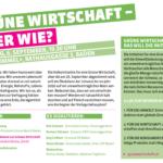 Flyer: Grüne Wirtschaft - aber wie?